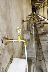 Taps outside Mosque for ritual purification