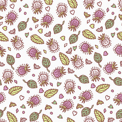 Beautiful, light floral seamless background. Seamless retro pattern. Floral.
