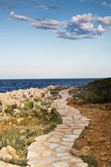 coastal trail, Cap d'Antibes. Antibes France