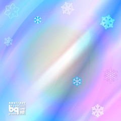 Abstract background snowflakes for design