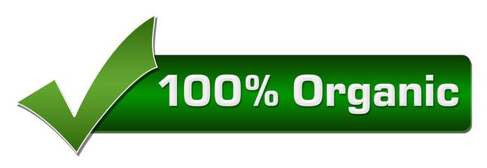 Hundred Percent Organic Green Tickmark