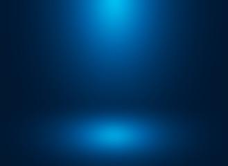 Smooth Dark blue with gradient. vignette Studio