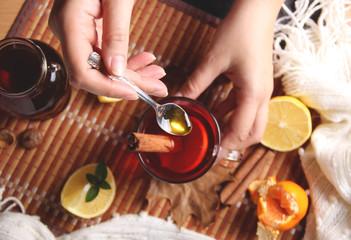 A tea spoon of honey