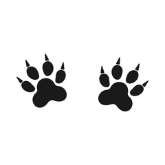 Footprints of animal paw. Web line icon. Abstract vector. For web and mobile applications, illustration design, creative business infographic, brochure, banner, presentation, concept poster, cover.