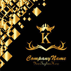 King place,boutique brand,real estate,property,royalty,crown logo,crest logo,Vector Logo Template