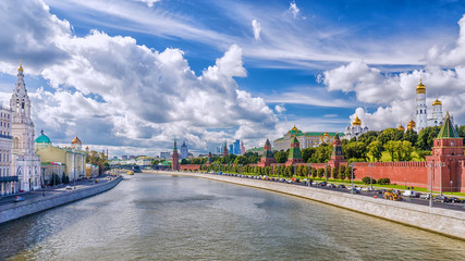 Kremlin Embankment in Moscow