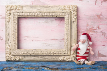 Christmas Santa empty photo frame card