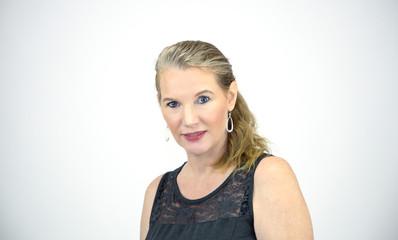 Mature Blonde Female Portrait Shot Facing Left Torso