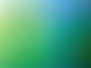 Abstract gradient green blue colored blurred background