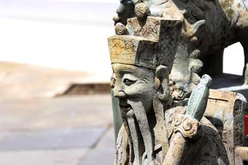 Chinese Statue Sculpture in public garden