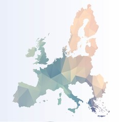 Polygonal Euro map