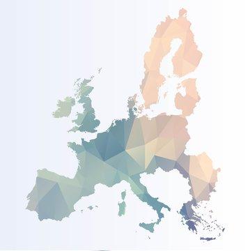 Polygonal Euro map