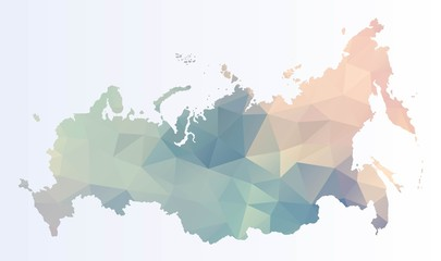 Polygonal map of Russia