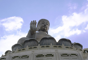 Tian Tan Buddha, Big Buddha statue at Nong Ping 360 in Hongkong Island.