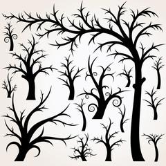 Vector Cartoon Tree Collection