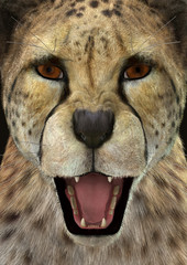 3D Rendering Cheetah