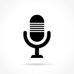 microphone icon on white background