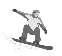Extreme sport snowboard design. Snow and snowboard jump, snowboard isolated, surfing and winter, cold and mountain, speed board, season snowboarding, snowboarder illustration