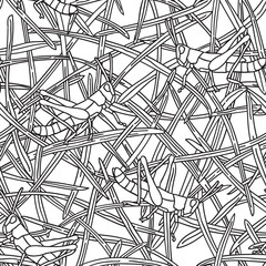 Grasshopper - Seamless Pattern.