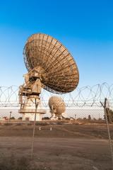 image of large parabolic satellite dish