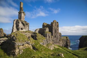 Ruinen von Girnigoe Castle, Caithness, Schottland