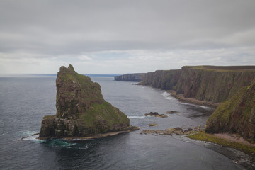 Duncansby Head sea stacks, John O Groats. Schottisches Hochland, Nördliches Schottland