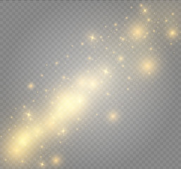 White sparks and stars glitter special light effect. Sparkling magic dust particles.dust.