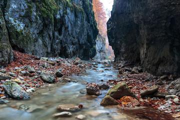 River in limestone canyon