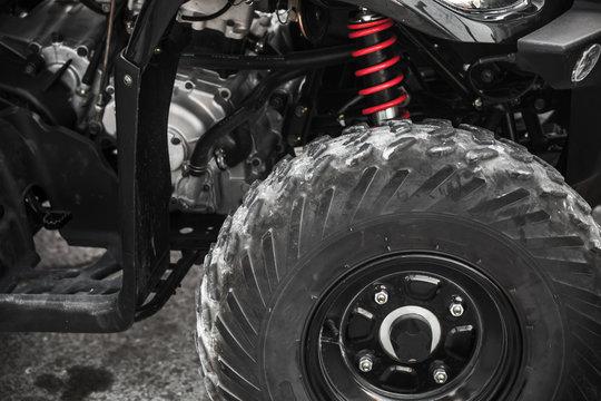 ATV quad bike fragment with wheel