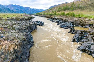 Autumn river pollution