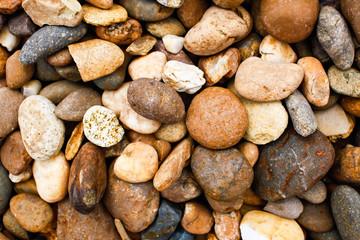 Gravel stones background.