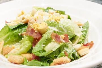 Closed up of Cesar Salad, healthy food, clean food, organic vegetables
