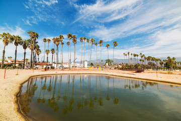 golden sand in Santa Barbara