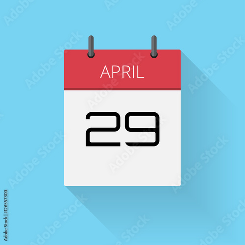 April 29, Daily calendar icon, Date and time, day, month, Holiday ...