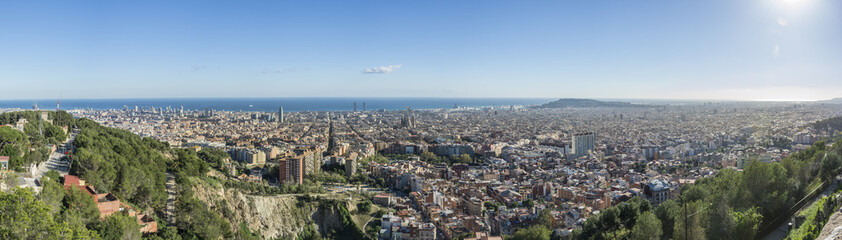 Panorama composition of Barcelona