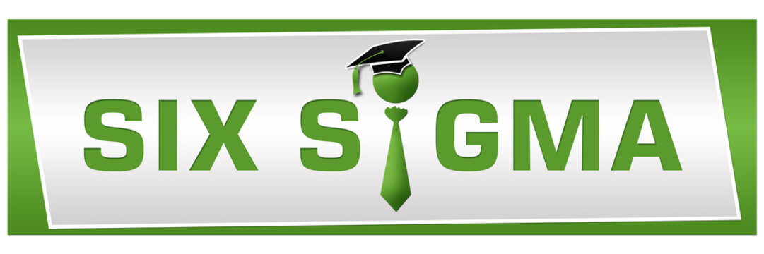 Six Sigma Green With Human Icon