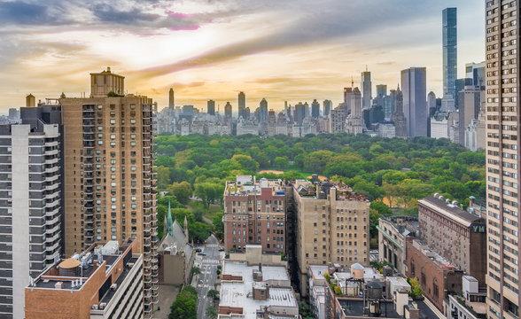 New York and Cental Park Sunrise