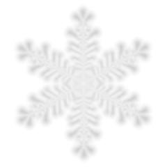 Christmas blurred snowflake on white background.