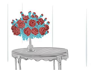 Bouquet standing in vase