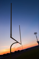 Shilouette Football Field Goal Post