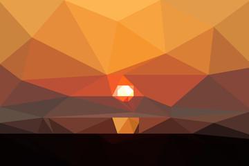 Sonnenaufgang Polygon Textur