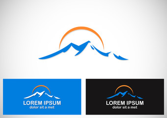 mountain abstract company logo