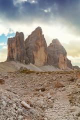Keuken foto achterwand Rudnes Tre Cime di Lavaredo in beautiful surroundings in the Dolomites in Italy, Europe (Drei Zinnen)