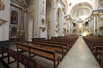 Interior of Church Nuestra Sra del Consuleo of Altea, province of Alicante, Spain