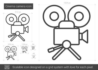 Cinema camera line icon.