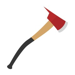 Axe for fireman isolated icon