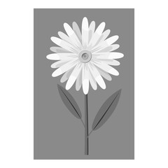 Honey flower icon. Gray monochrome illustration of flower vector icon for web design