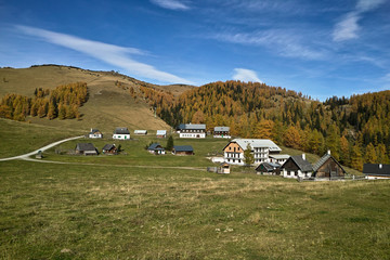 Aflenzer Bürgeralm im Herbst - Blickrichtung Norden