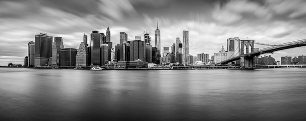 Manhattan from Brooklyn (B&W)
