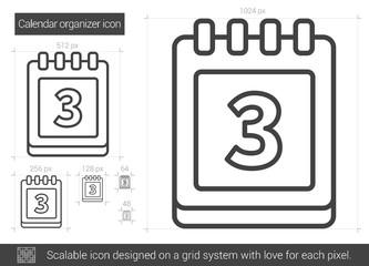 Calendar organizer line icon.